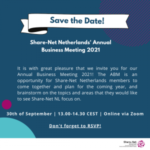 Save the Date – Share-Net Netherlands Annual Business Meeting