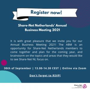 Share-Net Netherlands Annual Business Meeting 2021
